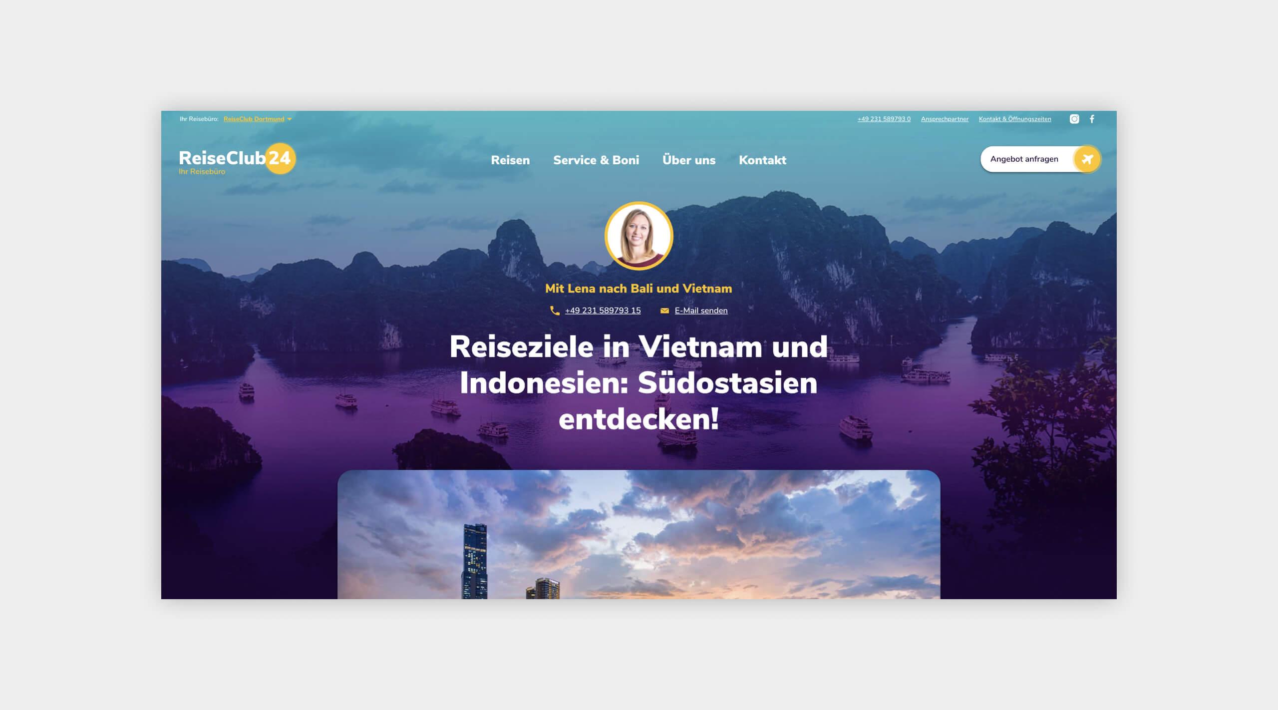 Auszug als Screenshot eines Reiseberichts auf der Website vom ReiseClub24.
