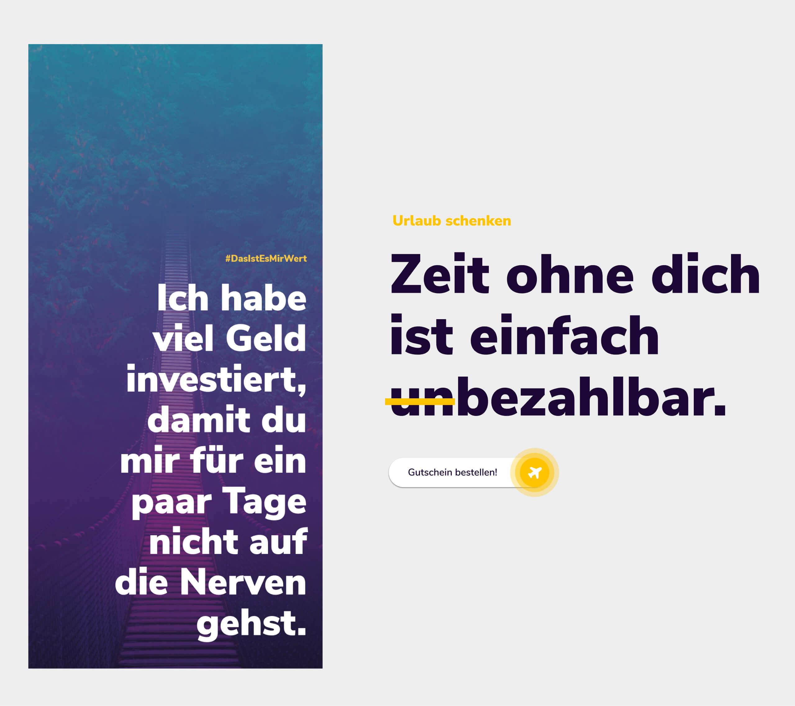 Printdesign für Gutscheine vom ReiseClub24.