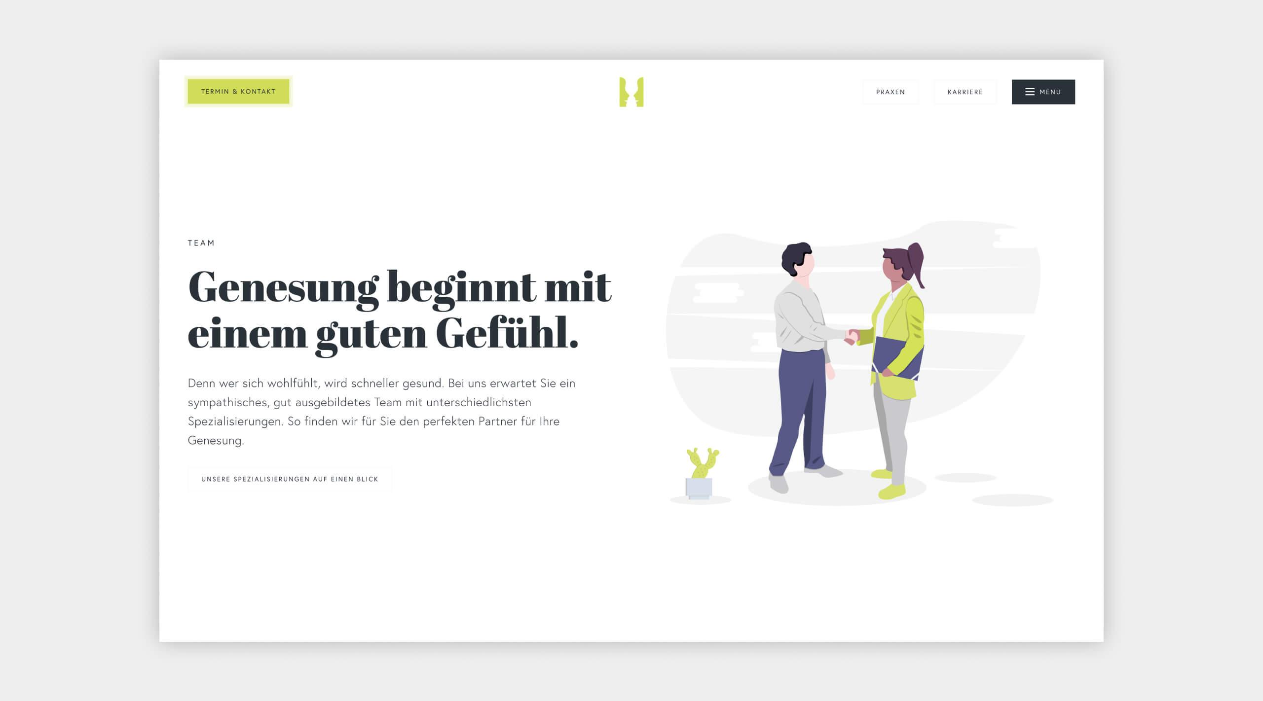 Auszug als Screenshot vom Teambereich auf der Website von Logopädie Vest.