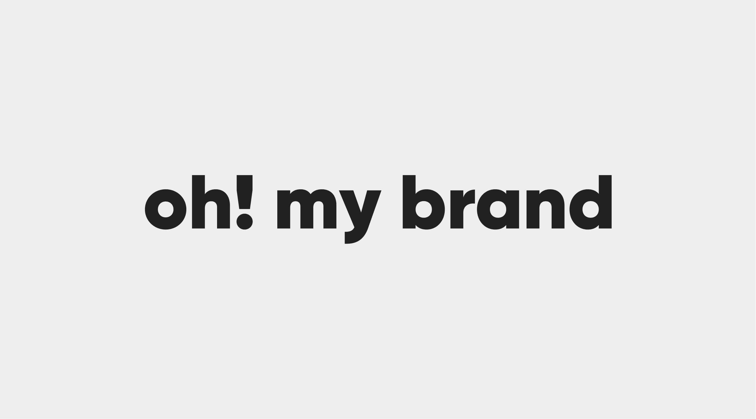 Darstellung des Logos (Wortmarke) von OMB Oh, my Brand!