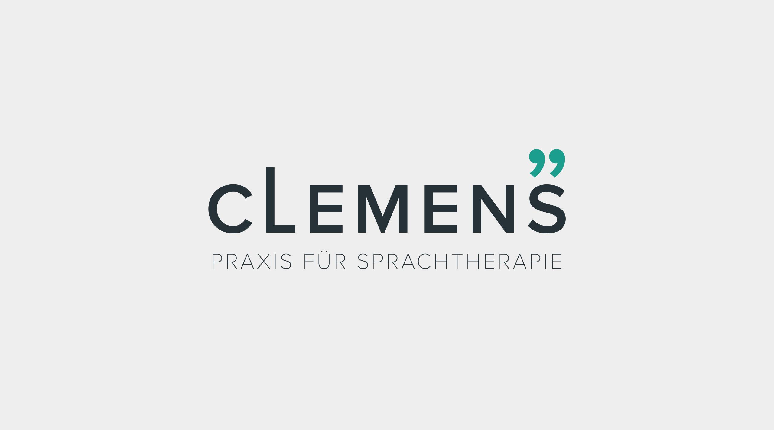 Darstellung des Sprachtherapie Clemens Logos.
