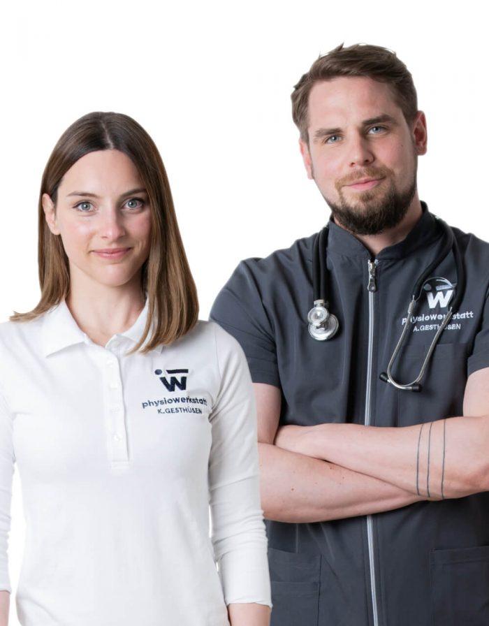 Portrait von Alexander und Katja von der physiowerkstatt.