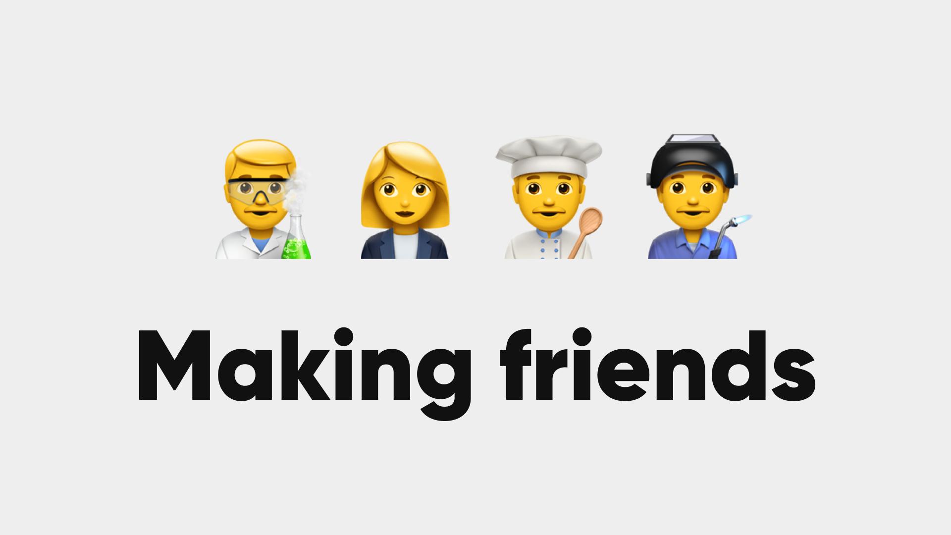 Making friends - Eine Corporate Website ist pures Teamwork.